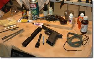 clean a handgun